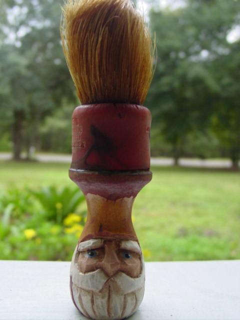 Blog carved shaving brush santa
