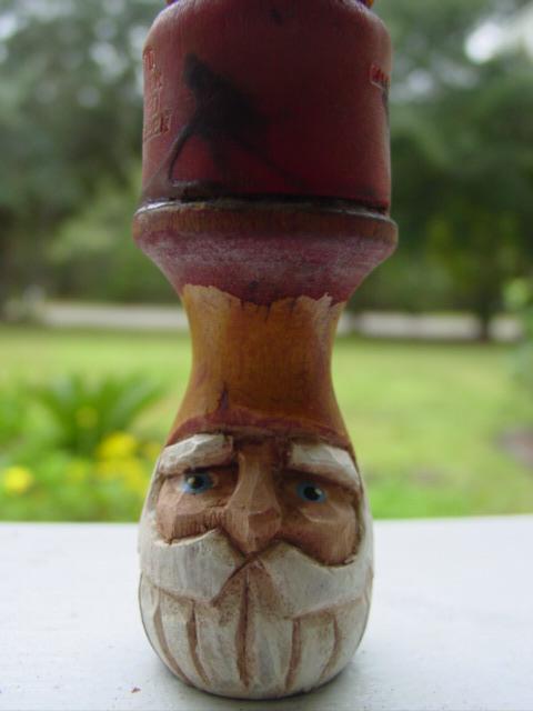 Blog carved shave brush close up