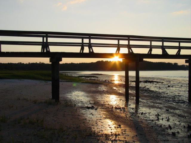Blog coosaw isle pier sunset