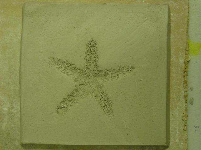 Blog starfish pottery tile