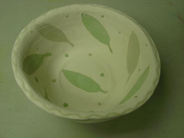 Blog unfired primitive bowl
