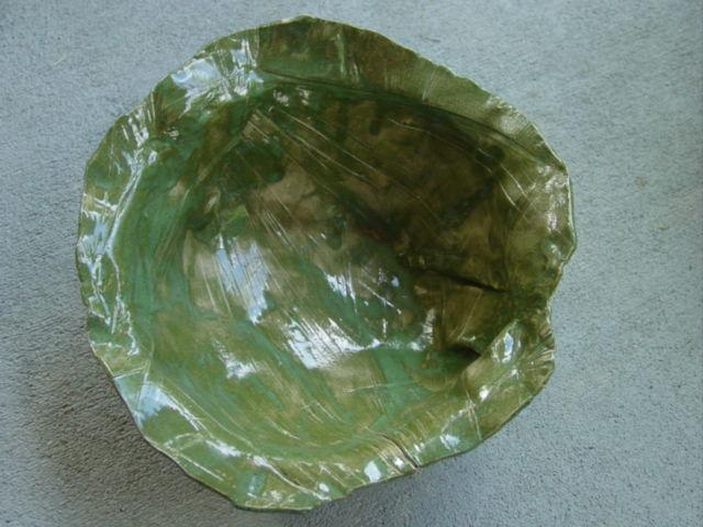 Blog green abstract bowl