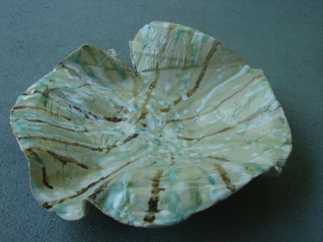 Christmas pottery platter09