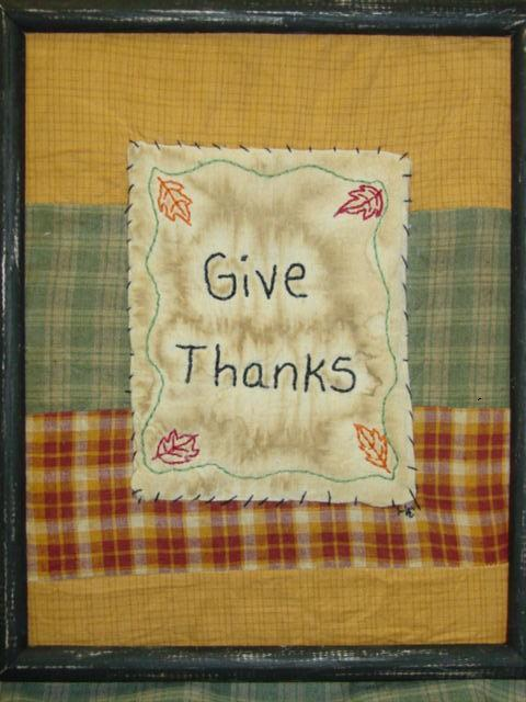 ATFP Give Thanks quilted stitchery
