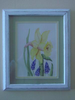 Framed_watercolor_daffodil
